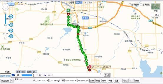 旅游轨迹地图制作