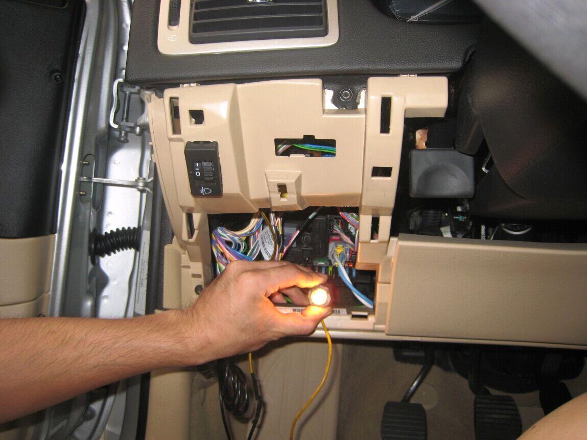 3,当测试某个保险丝在点火,熄火状态下都可以点亮电笔,即可以确定该